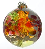 Kitras 6-Inch Fairy Orb Art Glass, Lime