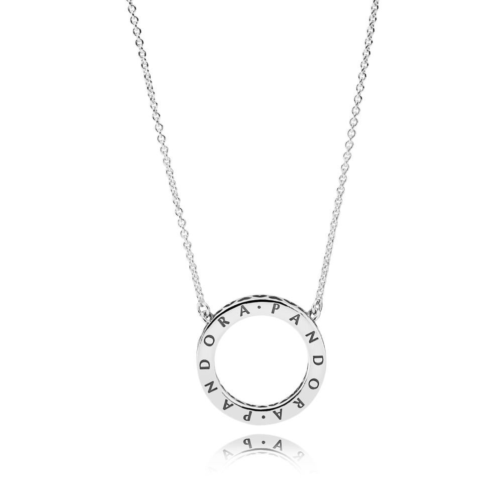 Pandora Women Gold Plated Pendant Necklace - 580515CZ-45 uk3Vxsn9nL