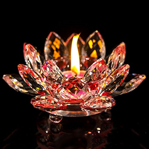 YJY Shiny Crystal Candle Holder Centerpieces - 4.7