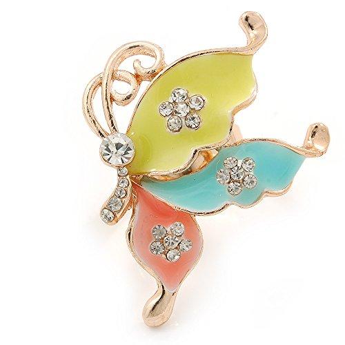 Enamel Butterfly Ring - 8