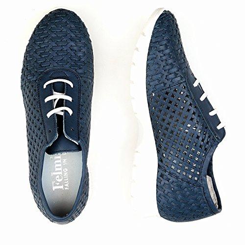 Felmini - Zapatos para Mujer - Enamorarse com Runner 9570 - Sports shoes - Cuero Genuino - Azul - 0 EU Size Azul