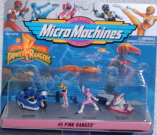 Mighty Morphin Power Rangers Micro Machines Set #5 Kimberly Pink Ranger (1994 - Megazord Set