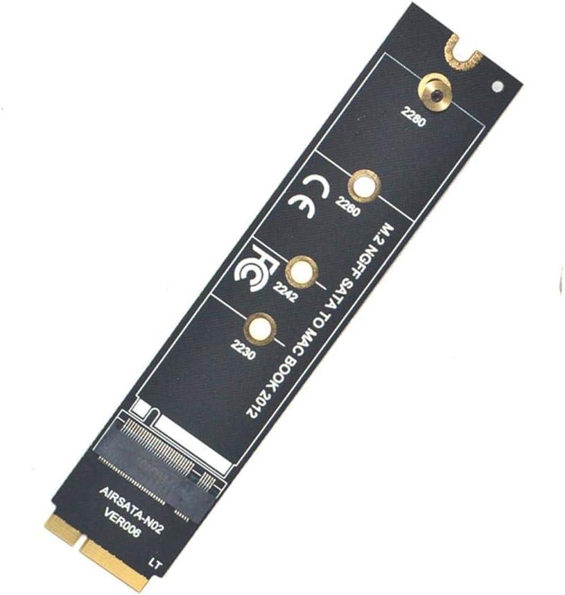 JMT M2 SSD Adaptateur Connecteur M.2 NGFF SATA SSD Convertisseur Adaptateur Carte de Riser Pour Apple 2012 pour MacBook Air A1465 A1466 Carte adaptateur uniquement.