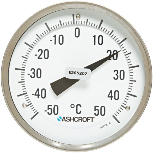 Ashcroft Series EI Stainless Steel Case Bimetal Thermometers, 5