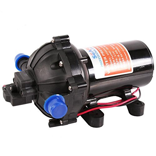 Maxtough 12v water diaphragm pump 20l min 5 5gpm 60psi for Water motor pump price