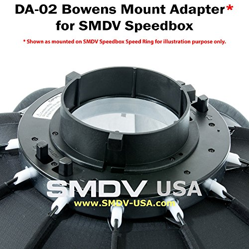 Smdv Mount Adapters For Alpha Speedbox: SMDV (DA-02) Bowens Adapter For SMDV Speedboxes Softboxes