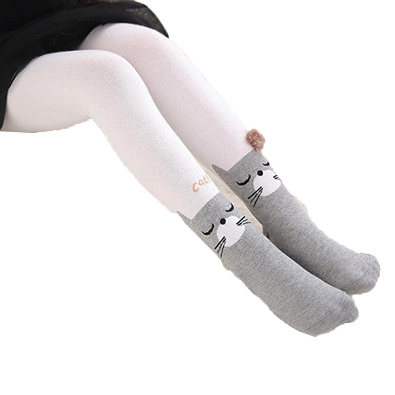 1-4 ans Bebe Fille Collants Hiver Cotton Tights Chat Motifs Chausettes Haut