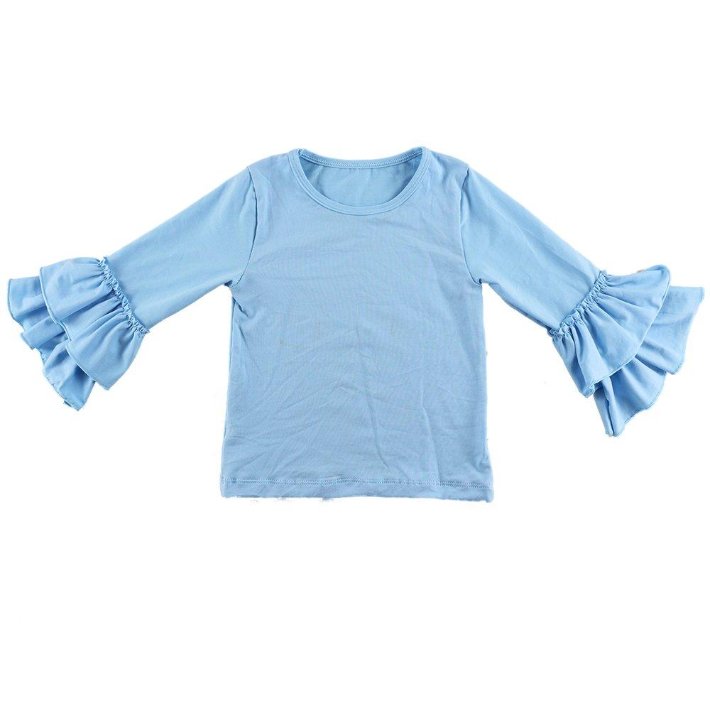 VduanMo Baby Girls Cotton Ruffle T Shirt Tops
