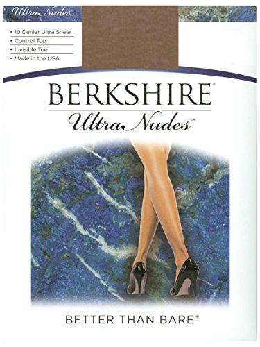 Petite Spandex Pantyhose (Berkshire Ultra Nudes Ultra Sheer Lycra Leg 4523, City Beige, Petite)