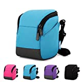 Caison Weather Protective Digital Camera Bridge Compact System Mirrorless Comfort Case Carry Messenger Shoulder Bag (Turquoise)
