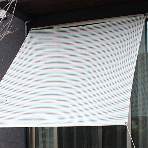 日よけ シェード おしゃれ 上質 ichiori shade 遮光タイプ マカロン 約190x200cm 取付金具ロープ付き 折り畳み 折りたたみ B07DR7YPKN 24408