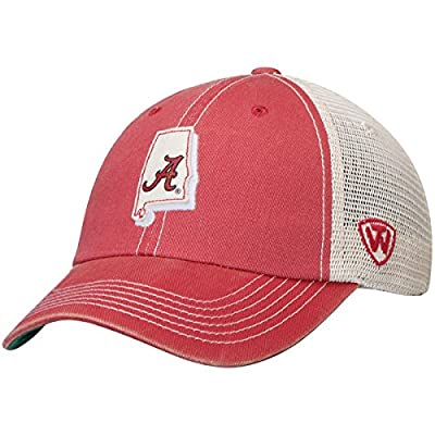 Top of the World Alabama Crimson Tide TOW Gray United Mesh Adjustable Snapback Hat Cap from Top of the World