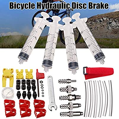 Bike Hydraulic Disc Brake Bleed Tool Kit For Shimano Tektro Avid Formula Hayes