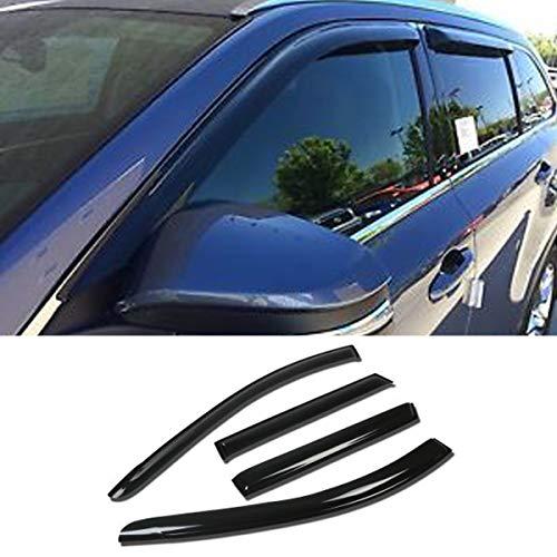 (Mgpro 4pcs For 2009-2010 Pontiac Vibe / 2009-2013 Toyota Matrix Smoke Deflector Sun Rain Guard Vent Shade Window Visors)