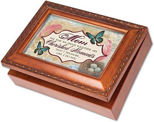最新エルメス Mom Woodgrain Cherished Edelweiss Memories Cottage Garden Rich Woodgrain Cottage Finish with Rope Trim Jewelry Music Box - Plays Song Edelweiss by Cottage Garden B01M4S7D4Z, アショロチョウ:1e206990 --- arcego.dominiotemporario.com
