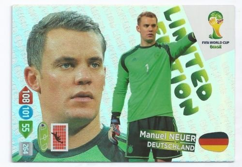 FIFA World Cup 2014 Brazil Adrenalyn XL Manuel Neuer Limited Edition