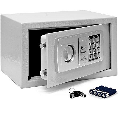 Elektronischer Safe mit Sicherheitscode und Doppelbolzen-Verriegelung Tresor 4mm Stahltür 31x20x20cm