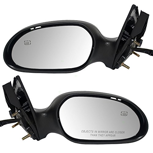 Driver and Passenger Power Side View Mirrors Heated Puddle Lamp w/Covers Replacement for Ford Taurus Mercury Sable 6F1Z17683B 6F1Z17682B