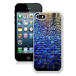 Blue Tiled Walkway The Stone Road iPhone 5 5S Case White Cover Cute cell phone cases