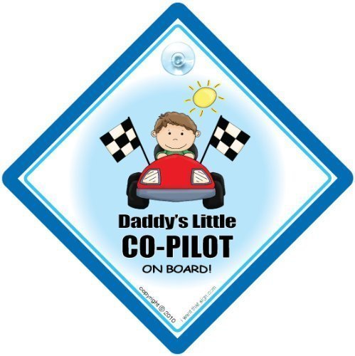 - BABY iwantthatsign.com Daddy's Little Co-Pilot On Board Car Sign, Bumper Sticker, Racing Driver Sign, Decal