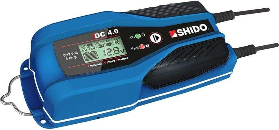 Shido Batterie Ladegerät Dc 4 0 6 12v 4a Laden Erhalten Alle Batterietypen Auto