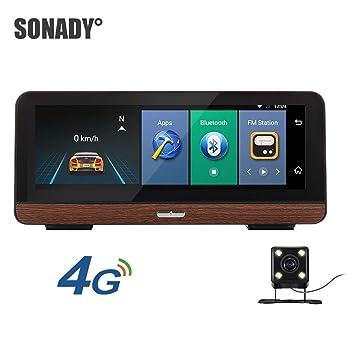 Amazon.com: SONADY - Grabadora de espejo de coche de 8 ...