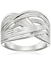 Sterling Silver Fluted Collection Ring, Size 8