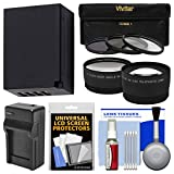 Essentials Bundle for Fuji X-A2, X-A3, X-A10, X-E2S, X-T1 X-T2, X-T10, X-T20 with 16-50mm, 18-55mm Lens with NP-W126 Battery & Charger + 3 Filters + Tele/Wide Lenses + Kit