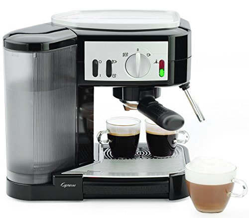 Capresso 115.01 1050-Watt Pump Espresso and Cappuccino Machine, Black/Silver