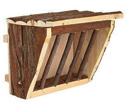 De madera de la Cuna Para el Heno, la Jaula de Monte 20x15x17 Cm ...