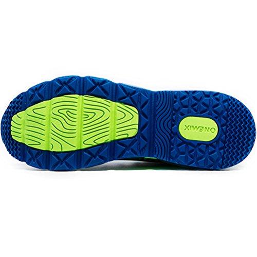 Yidiar Mens Cuscino Daria Flessibile Scarpe Da Corsa Leggere Scarpe Da Ginnastica Allenamento Outdoor Blu / Verde