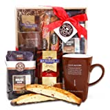 Alder Creek Gifts Coffee Bean & Tea Leaf Holiday Delights Gift Basket, 2 Pound