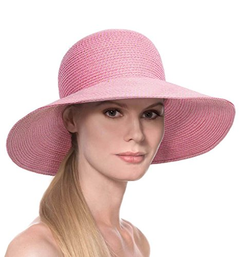 Eric Javits Luxury Fashion Designer Women's Headwear Hat - Hampton - Pop Pink by Eric Javits
