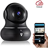 Littlelf Wireless Home IP Security Camera - WIFI Indoor IP Camera for Baby/Pets/Home/Office Monitor with Pan/Tilt/Zoom, Cloud Available&Night Version&2-Way Audio-Black
