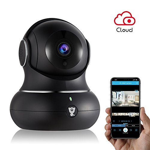 urity Camera - Littlelf WiFi Indoor IP Camera for Baby/Pets/Home/Office Monitor with Pan/Tilt/Zoom, Cloud Available&Night Version&2-Way Audio (Black) ()