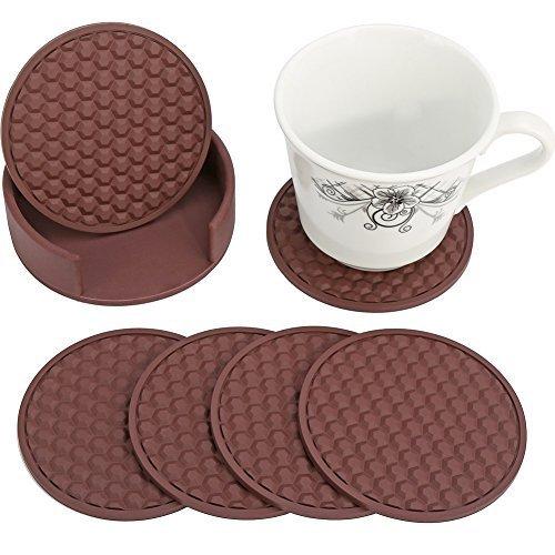 HappyDavid Silicone Beverage Use Furniture brown holder product image