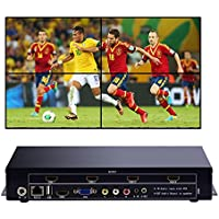 2x2 1x4 4x1 1x3 Wall Monitor USB+HDMI+VGA+AV TV HDMI With Fully-digital Processing Channel Inside 180 Degree, HD LCD splicing screen seamless led TV wall monitor display Support