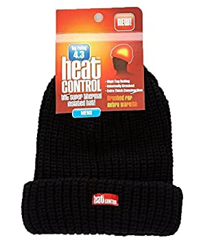 033e71ac36b Heat Control Thermal Insulated Hat Mens Black  Amazon.co.uk  Kitchen ...