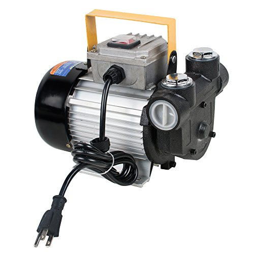 Pump 12v Ac Transfer (Zinnor Oil Diesel Fuel Transfer Pump 110V AC 60L/min 550W Self Priming Electric Pump Connector Filter Cast Iron ON/Off Switch(Shipping from US))