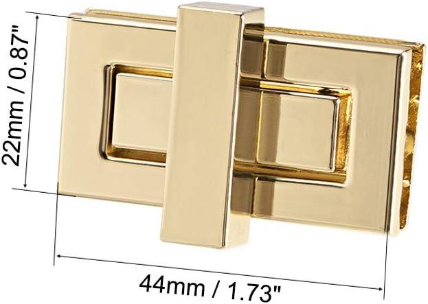 sourcing map 2 Sets Rechteckig Geldb/örse Drehverschluss Kupplungen Verschl/üsse f/ür DIY Sack Brussed Brass 32 mm x 20 mm