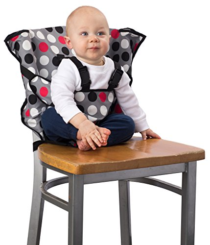 Cozy Cover Easy Seat - Portable Travel High Chair and Safety Seat for Infants and Toddlers (Polka Dot)