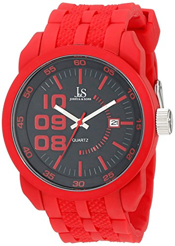 Joshua & Sons Men's JS63RD Red Watch