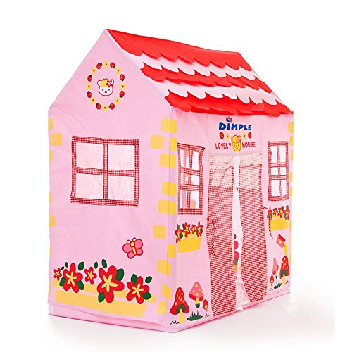 Children's Kitty Themed Pink Girl Soft Sided Play House by Dimple ()