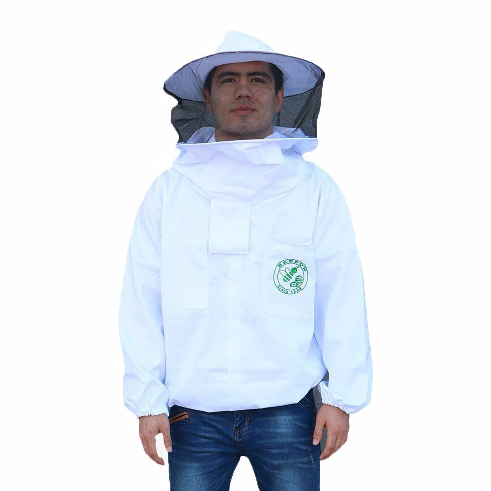 Beekeeper sProtect Bee keeping Suit Jacket Safty Veil Hat Body Equipment Hood