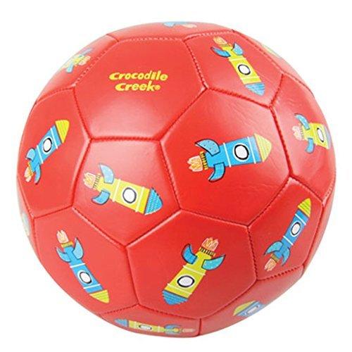 Crocodile Creek Kids Rockets Boxed Soccer Ball, Red, 3/7 by Crocodile Creek