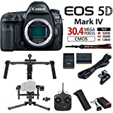 Canon EOS 5D Mark IV 30.4 MP Full Frame CMOS DSLR Camera (Body) w/DJI Ronin M 3-Axis Brushless Gimbal Stabilizer