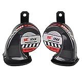2 Pcs Motorcycle Boat Car Electric Snail Air Horn Loud 130dB 12V