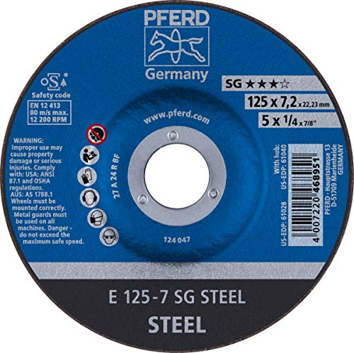 5 x 1//4 Grinding Wheel Type 27 7//8 AH A 24 R SG