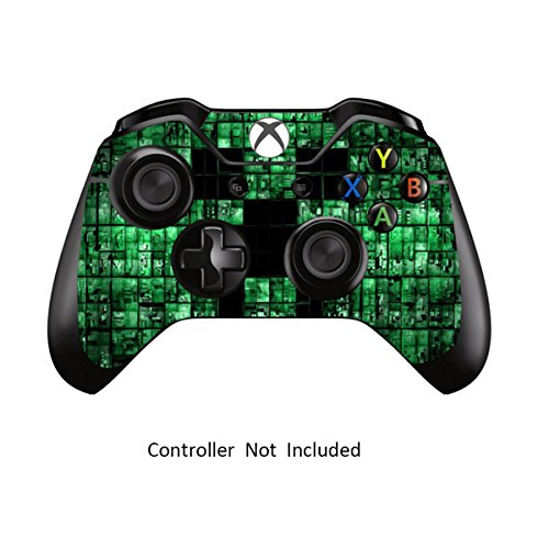 Cheap Skins Stickers for Xbox One Games Controller – Custom Orginal Xbox 1 Remote Controller Wired Wireless Protective Vinyl Decals Covers – Leather Texture Protector Accessories – Green Digicamo