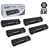 LD Compatible Toner Cartridge Replacement for HP 85A CE285A (Black, 5-Pack)